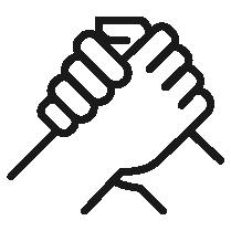 Piktogramm eines Handshakes.